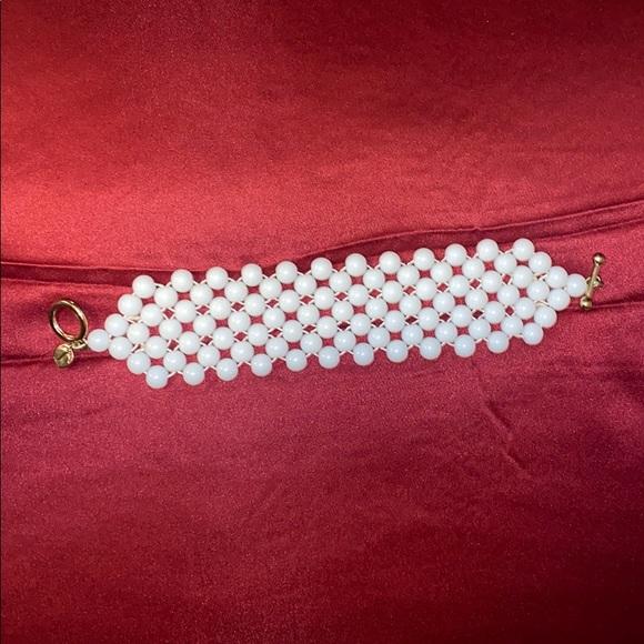 Talbots White Beaded Bracelet